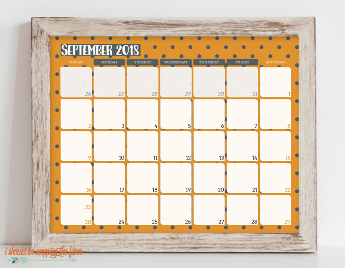 This 2018 Printable Calendar is modern and fun...and has room to jot down all of your activities.