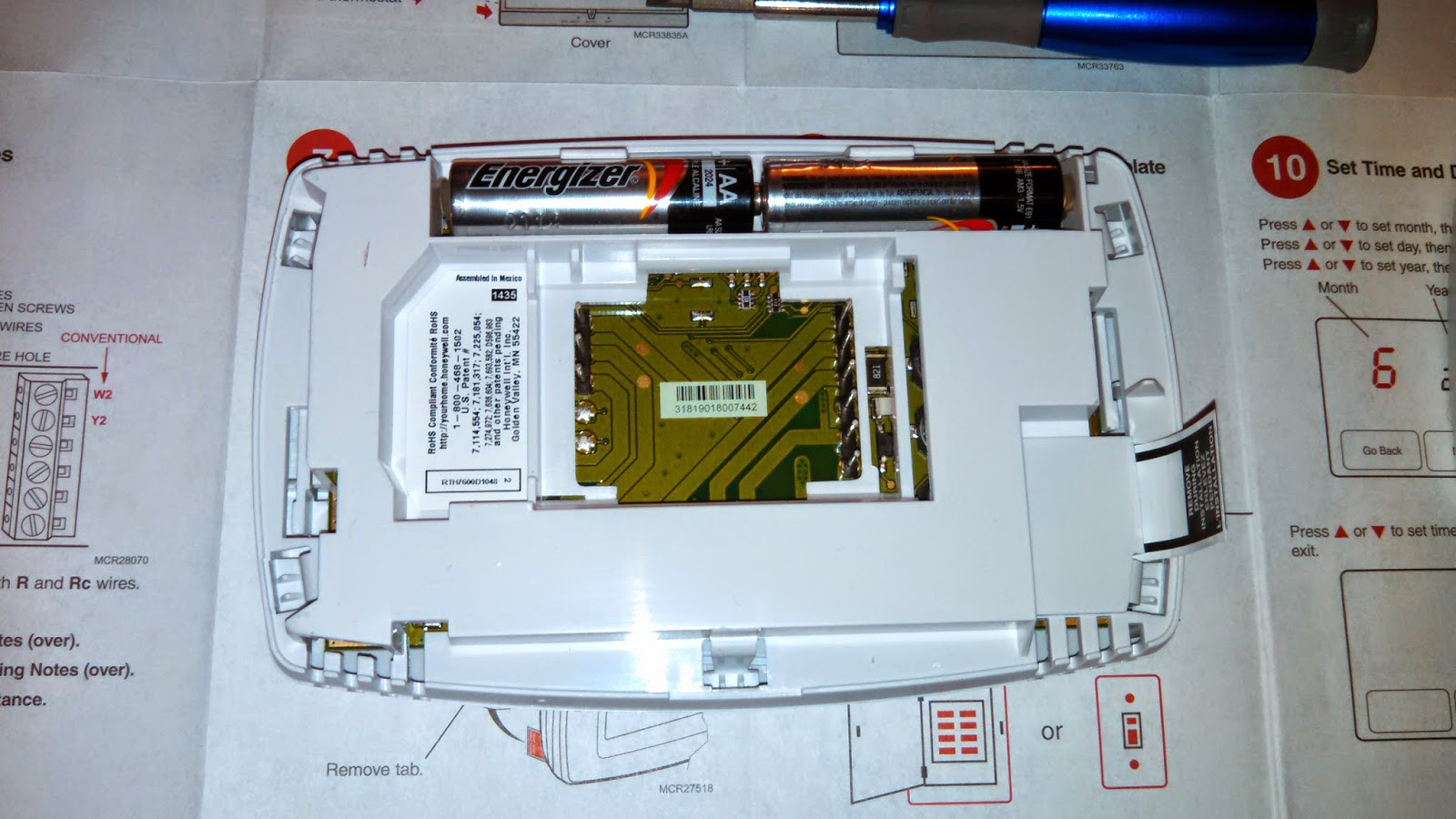 Battery For Honeywell Thermostat - Thermostat Manual