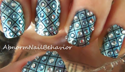 how to place rhinestones on nails diamond nail art