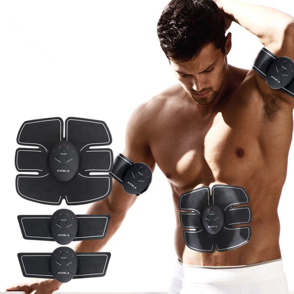 Smart Abs Stimulator Abdominal Muscle Training Pad Ems Body Fit Slimming/'Trai BP