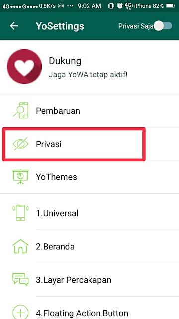 Cara Menyembunyikan Status Online di Whatsapp 5