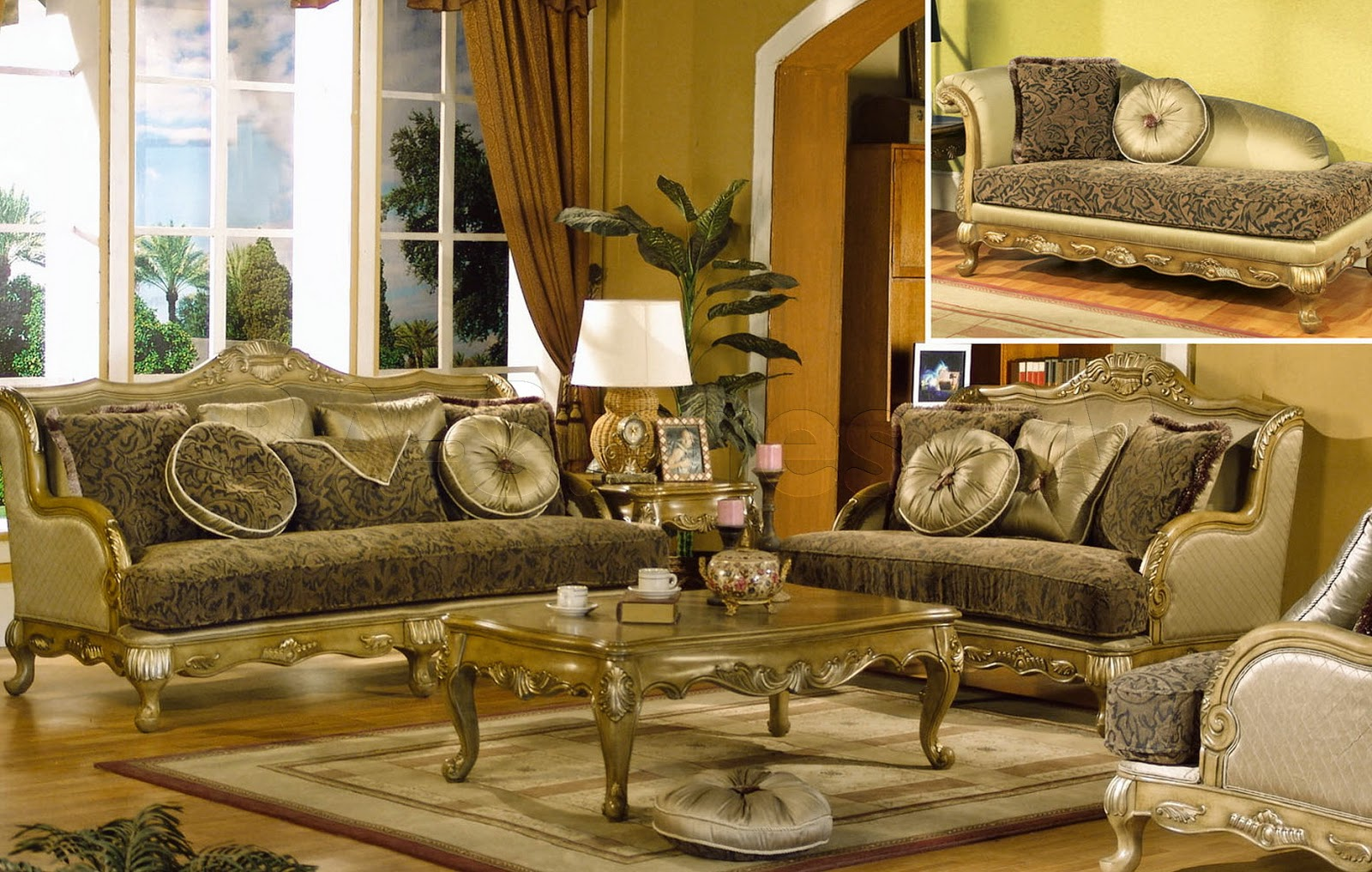 French Provincial Living Rooms Room Firewood Holder Furniture Apartment Interior Design