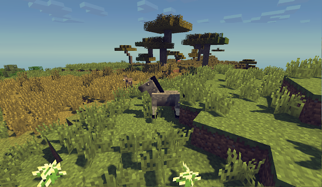 imagen de un caballo en minecraft