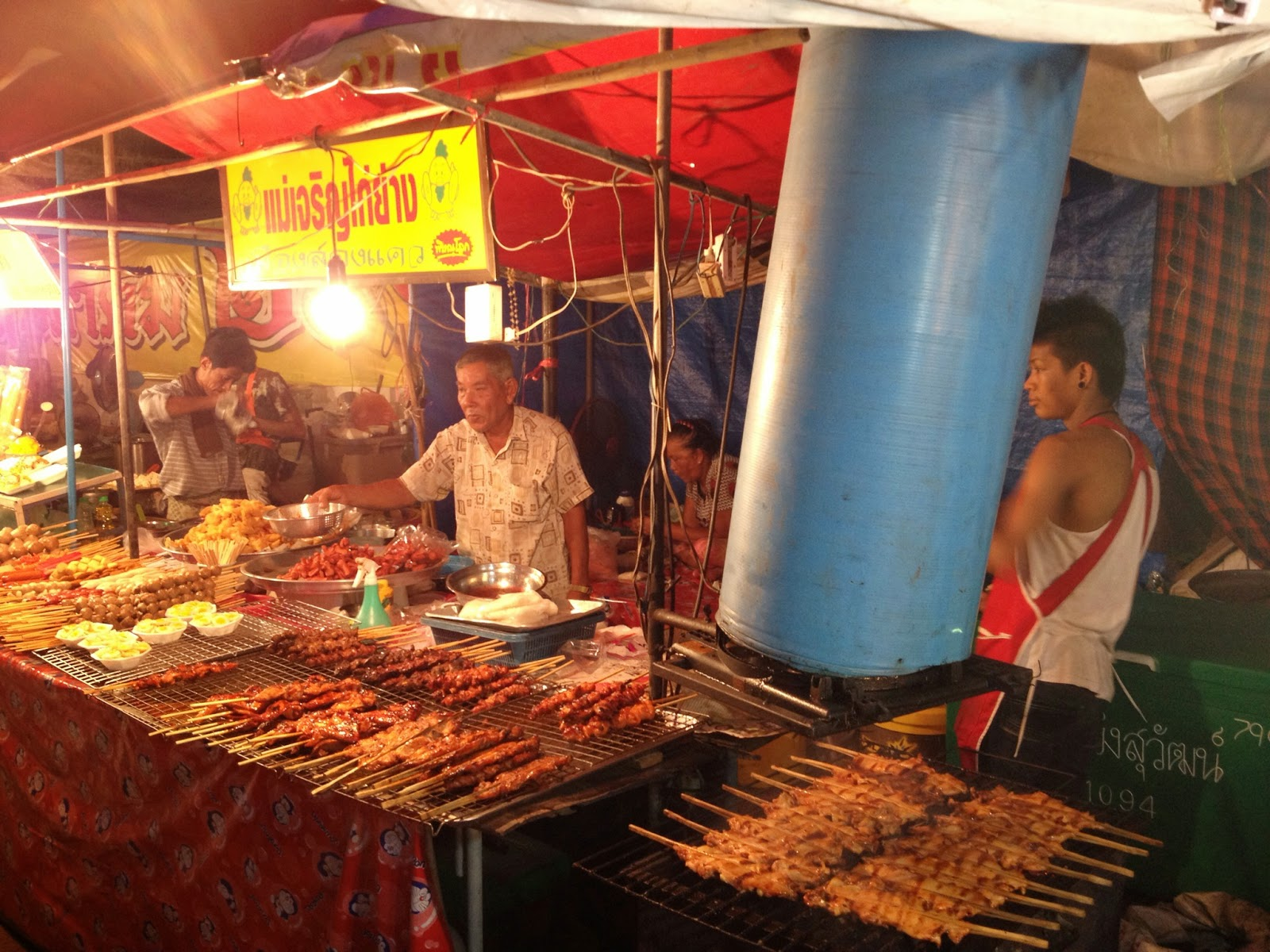 Chiang Mai - Meat on skewers. Good.