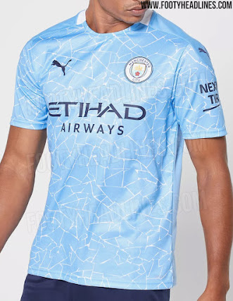 Inspired By Home Kit Manchester City 20 21 Home Pre Match Shirt Leaked Footy Headlines