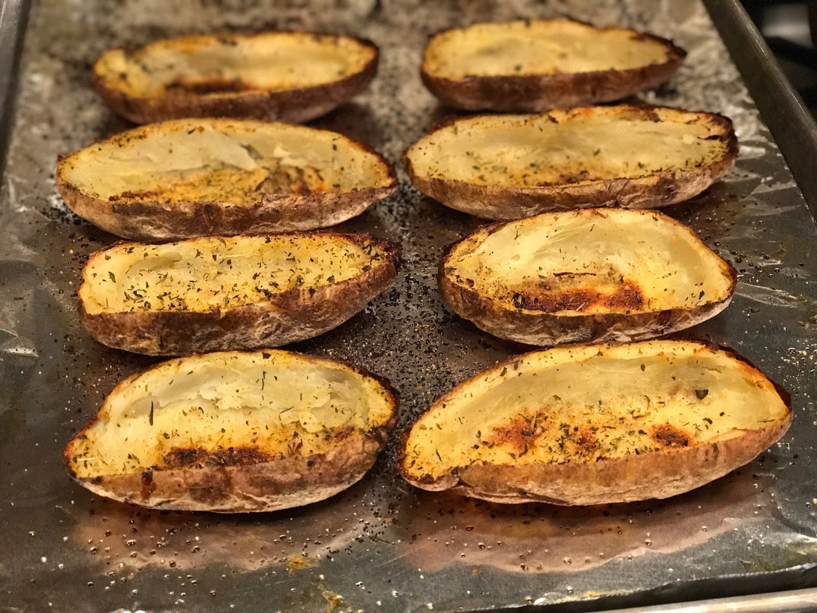 Greek Salad Style Potato Skins