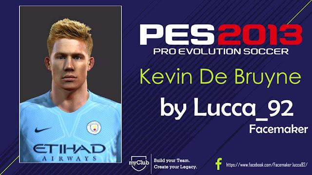 PES 2013 Kevin De Bruyne Face