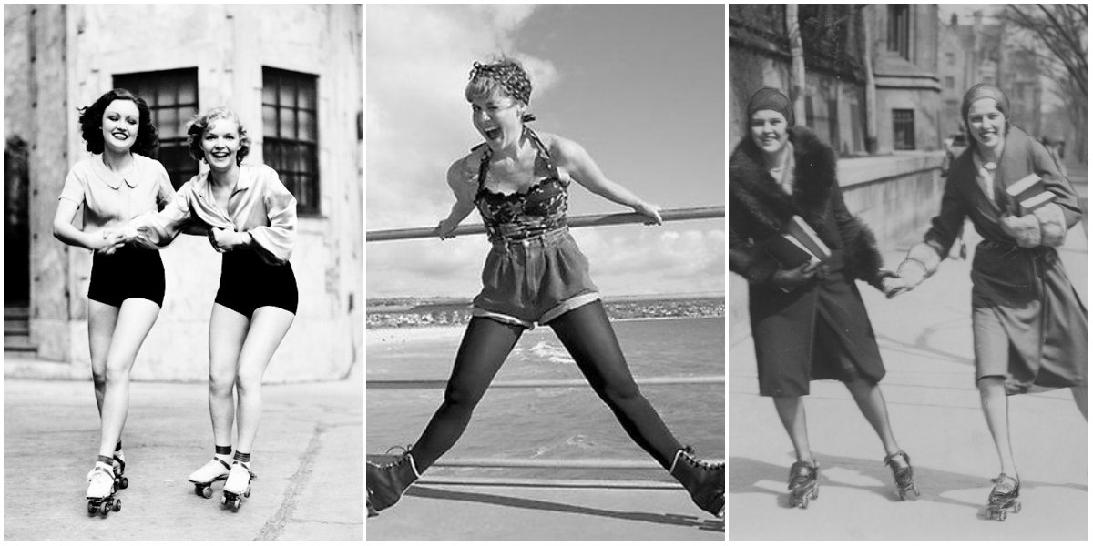 30 Interesting Vintage Photos Of Roller Skating Girls From The Mid 20th Century Vintage Everyday