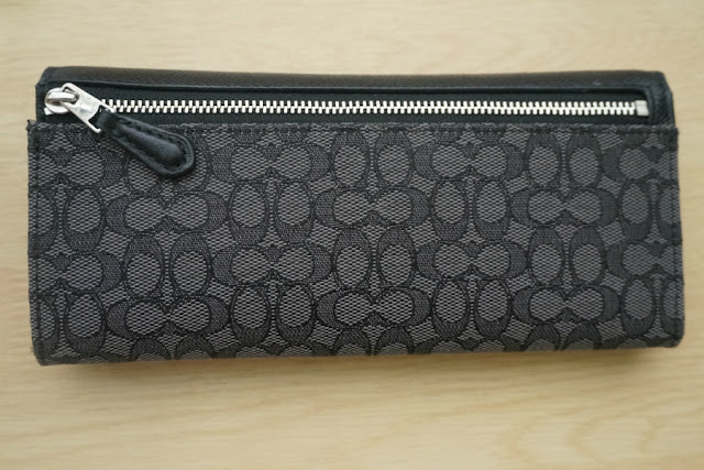 COACH Soft Wallet in Signature Coated Canvas (Style 52575)