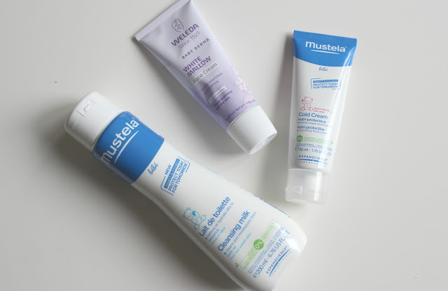 Mustela Cleansing Milk, Weleda White Mallow Face Cream and Mustela Cold Cream Nutri-Protective Review