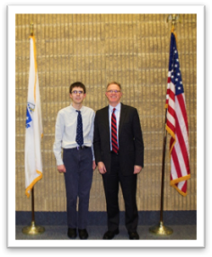 Tri-County RVTHS student, Jeffrey Blenkhorn and Stephen Dockray, Superintendent