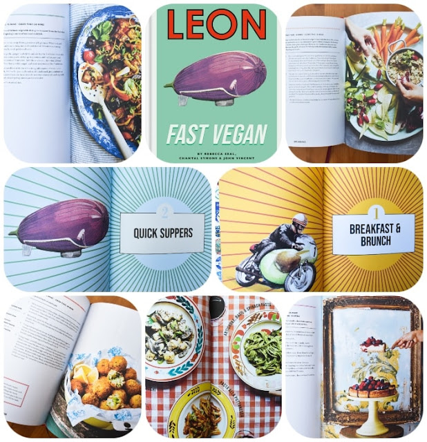 picture from the inside of Leon Fast Vegan cookbook