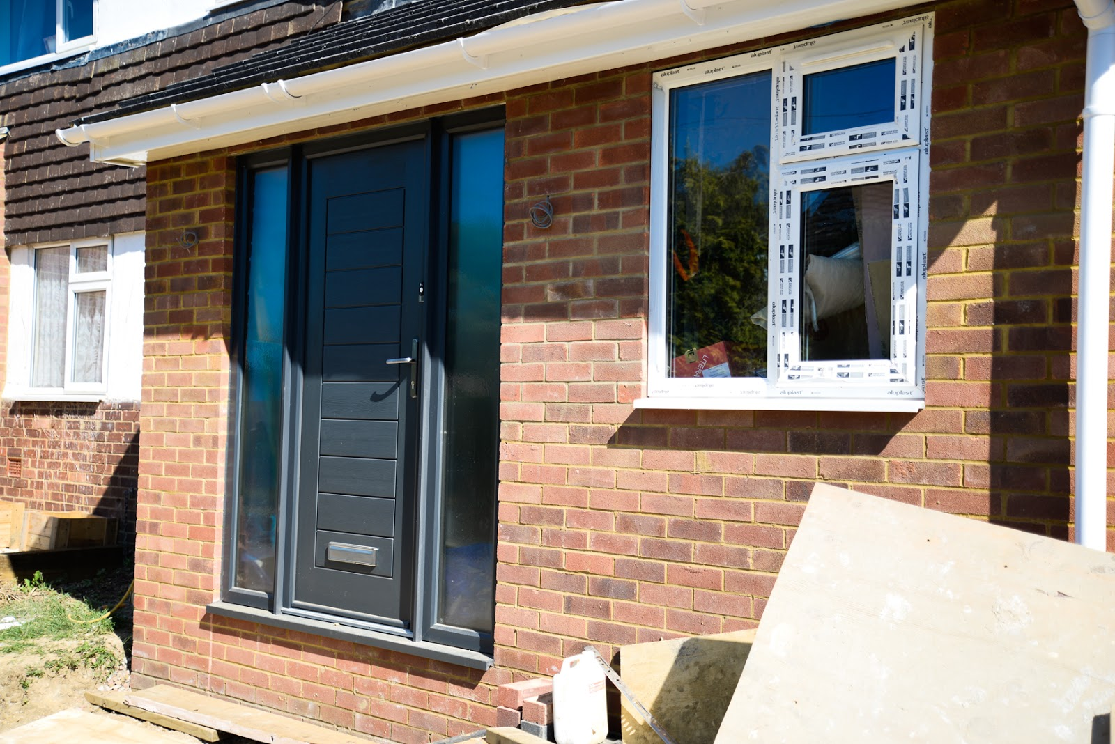 adding a porch to house, house renovation, front two storey side extension, kitchen extension, house makeover