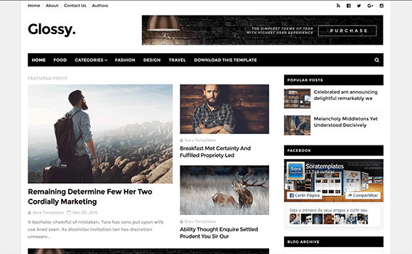 How To Setup Glossy Blogger Template - Sora Blogging Tips