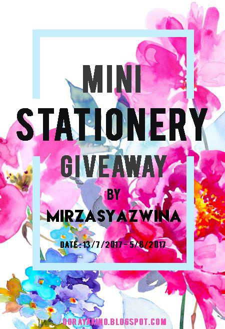 mini stationery giveaway by mirzasyazwina