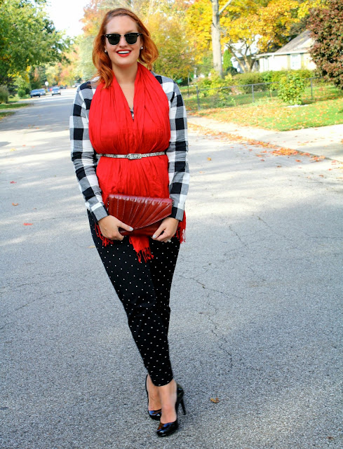 In Kinsey's Closet buffalo plaid style plus size outfit chic looks for curvy girls