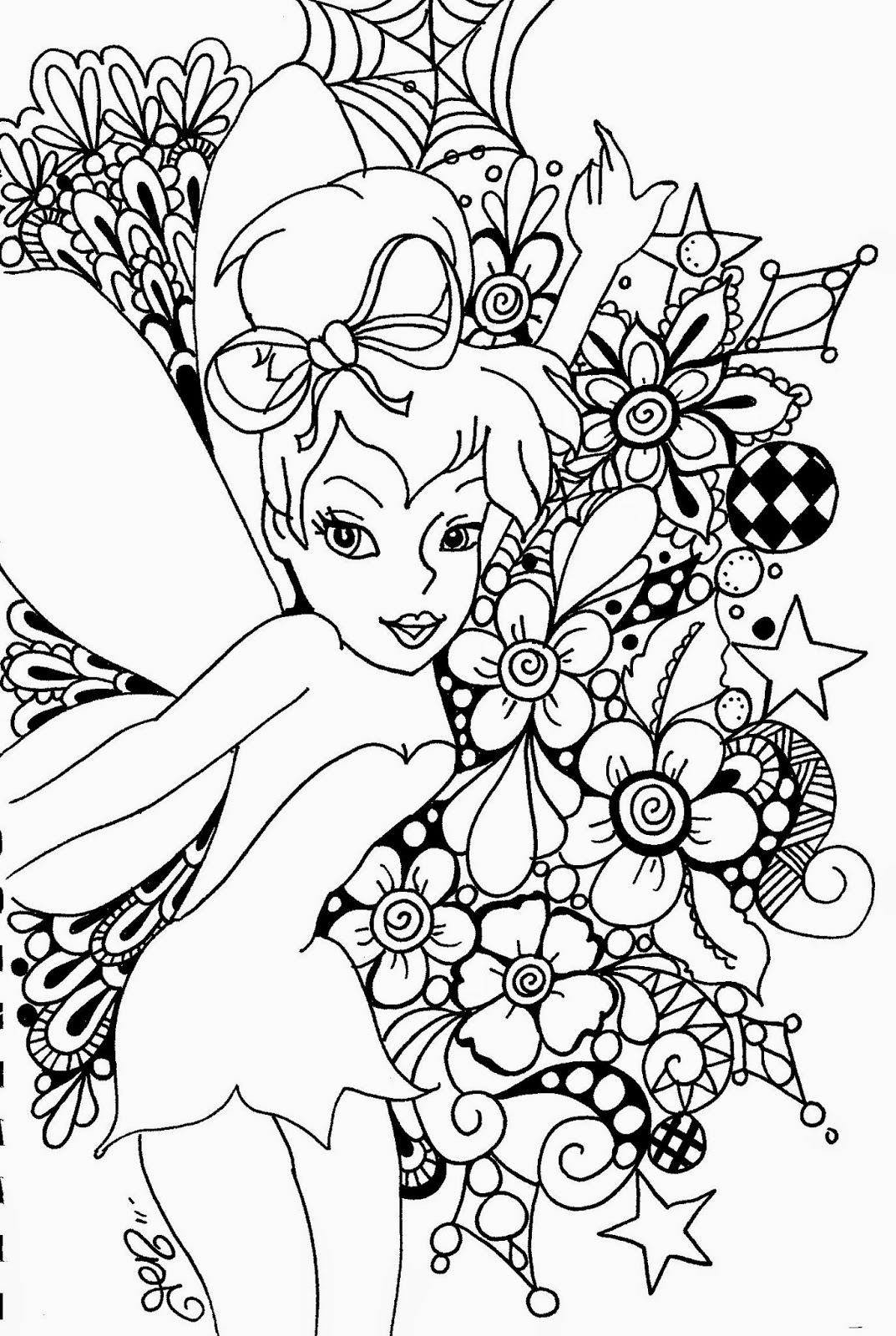 Coloring Pages Tinkerbell Coloring Pages And Clip Art Free And Printable