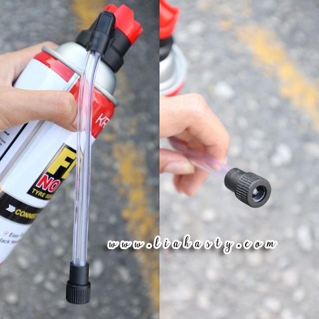 Penyelamat Tayar Pancit Kronos Flatnomore Tyre Sealant and Inflator