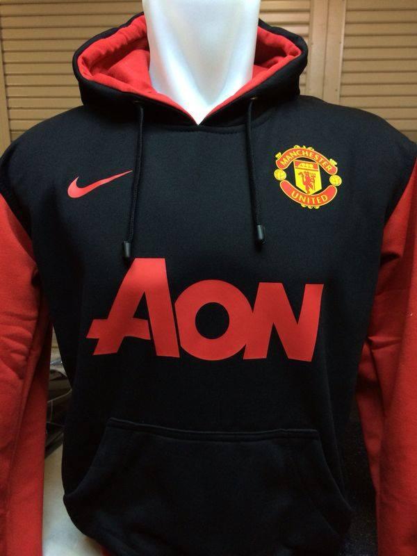 Jual Jaket Hoodie Manchester United Hitam Kombinasi Merah