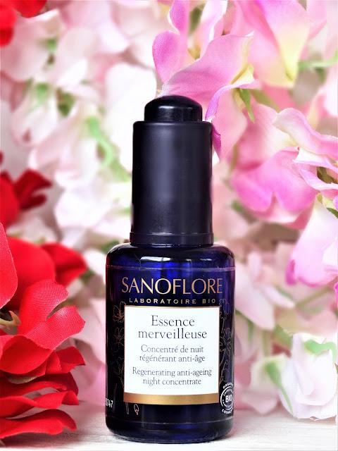 essence merveilleuse sanoflore, soin anti age bio, concentré de nuit anti age, serum anti age