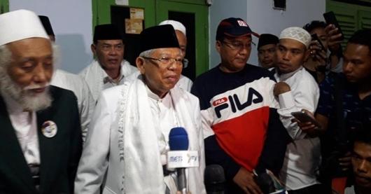 Sowan ke Ulama Banten Abuya Muhtadi, Ma'ruf Yakin Elektabilitas Naik