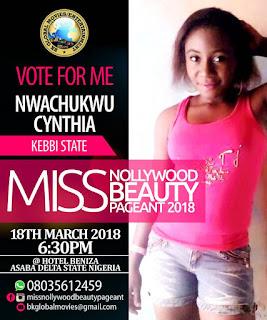 Miss Nwachukwu Cynthia - Representing Kebbi State