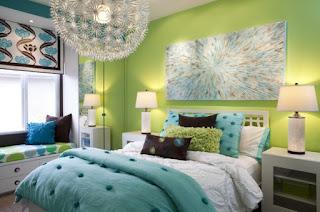 cuarto turquesa verde