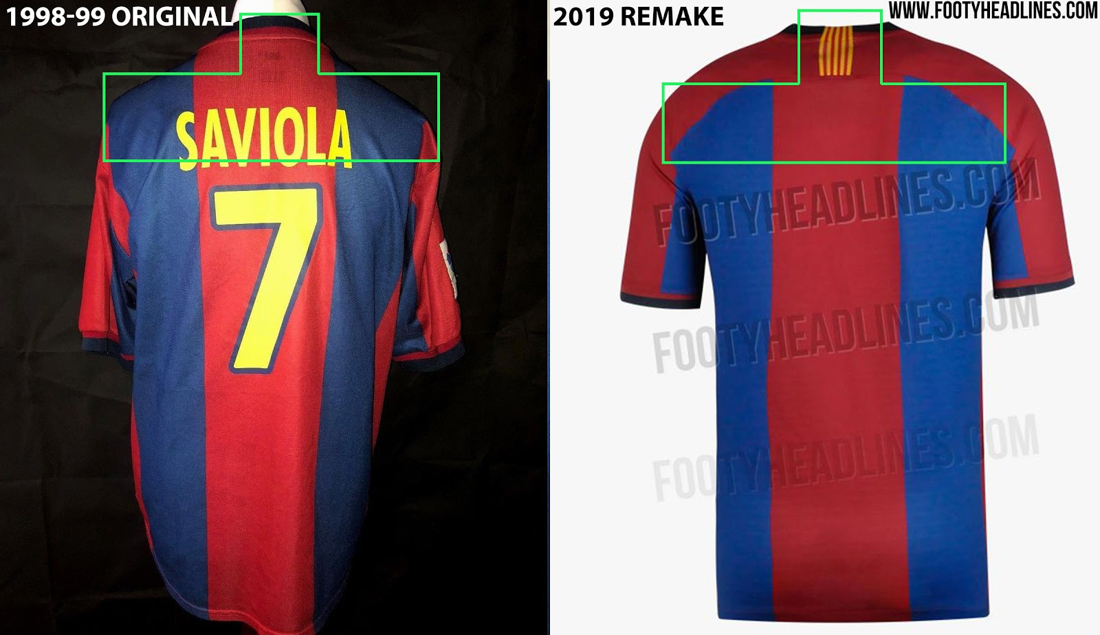 03e2d9dba The third important difference is that the 2019 remake of the FC Barcelona  1998-99 kit will not feature the classic numbers but the current La Liga  font ...