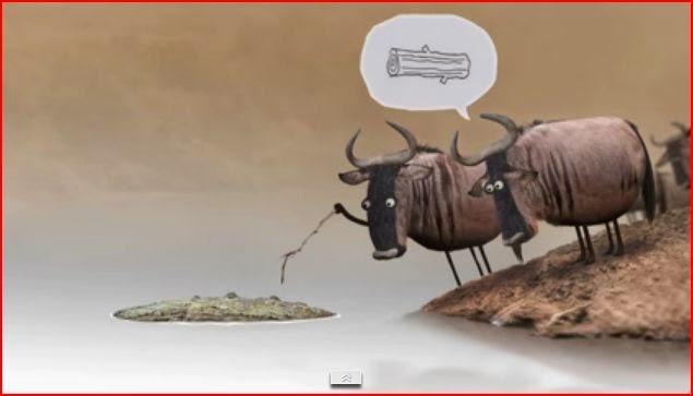 Wildebeest stop motion animation animatedfilmreviews.filminspector.com