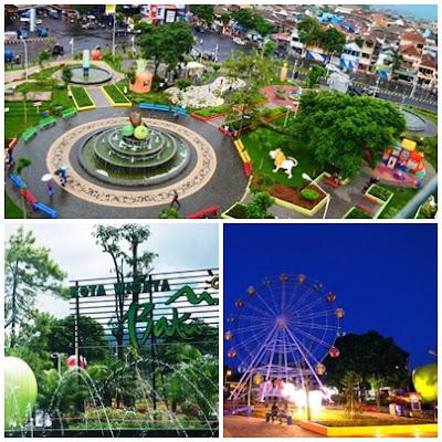 Alun-alun Kota Batu-Malang.