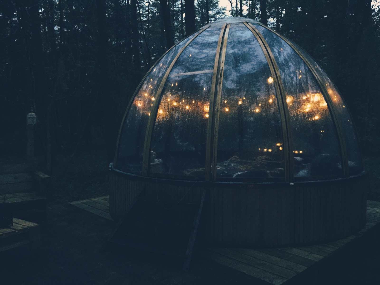 Glamping at Camp Katur in the Magical Woodland Hide Unidome