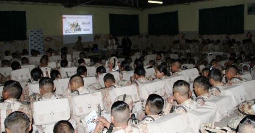 PRONABEC informa sobre Beca 18 a jóvenes de Puno que cumplen Servicio Militar Voluntario - www.pronabec.gob.pe