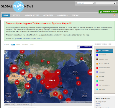 The River Seers: News aggregators- Typhoon Haiyan on Global Flood News