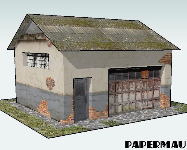 PAPERMAU: More One Garage Paper Model For Dioramas, RPG ...