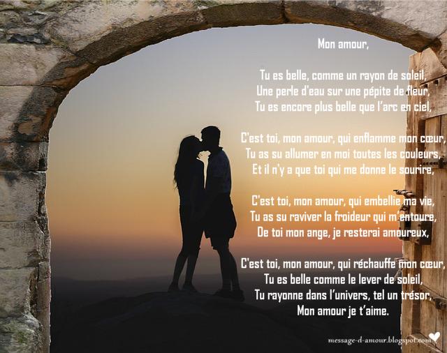 Belle rencontre d'amour poeme