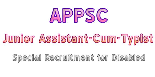 APPSC-Backlog-PH-Disabled-Junior-Assistant-cum-Typist