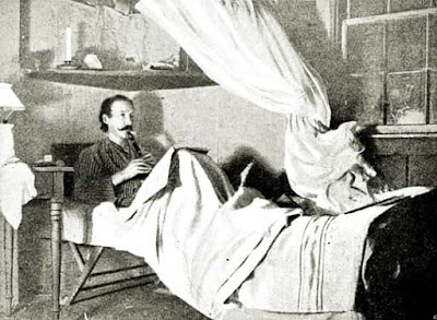 Robert Louis Stevenson paying his flageolet