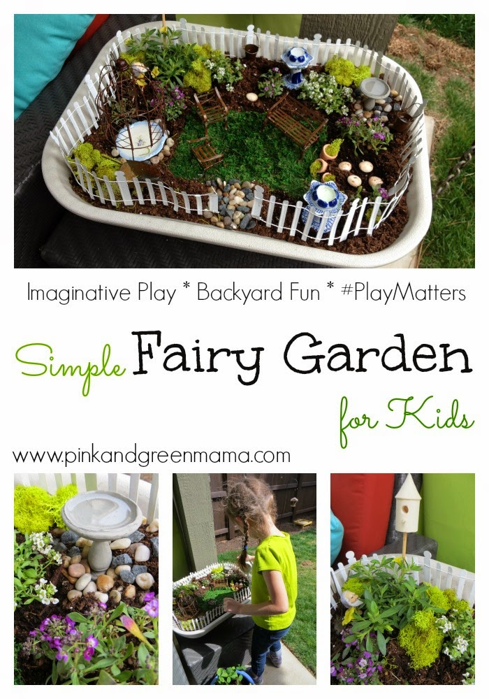Pink And Green Mama: Simple Fairy Garden For Kids