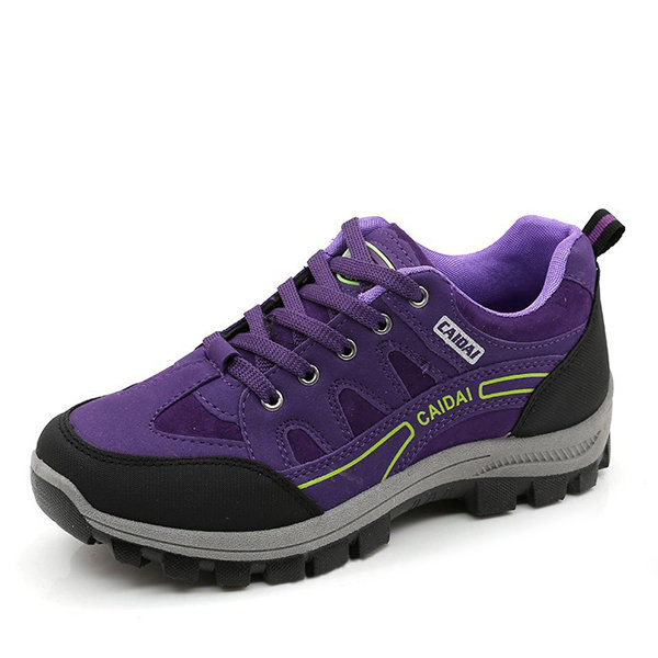 Suede Hiking Lace Up Outdoor Sport Women Sneakers