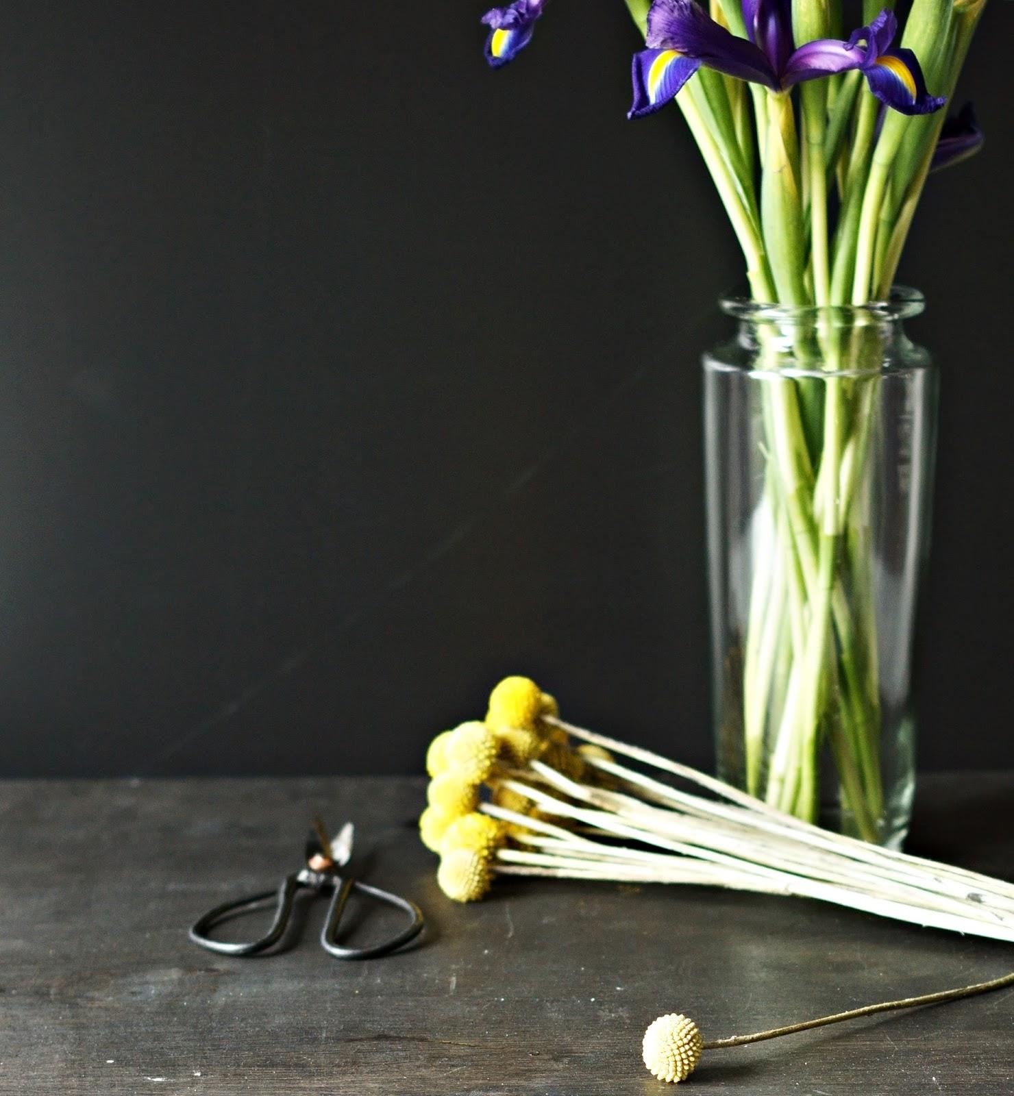 Blog & Fotografie by it's me! - Rainfarn mit lilafarbenen Iris und eine alte Schere