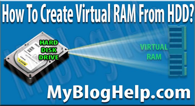 Virtual RAM from Hard Disk Drive