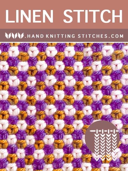 The Art of Slip Stitch Knitting - Three Color Linen Textured Pattern