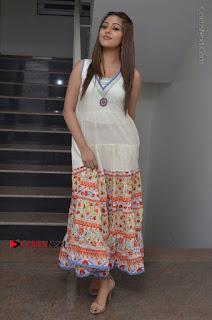 Telugu Actress Anu Emmanuel New Stills in Beautiful White Long Dress  0092.JPG