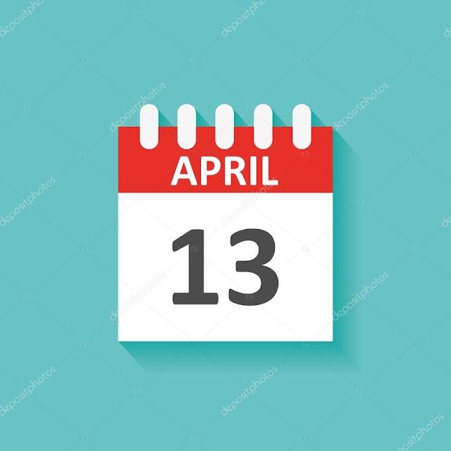 13 de Abril- O dia de hoje na história: fatos e acontecimentos em Elesbão Veloso.