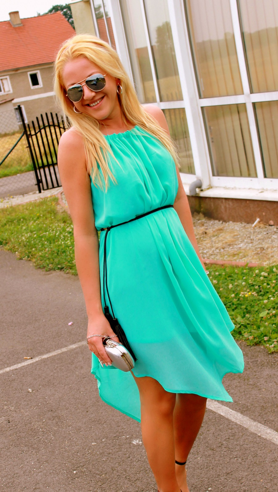 Sammydress review. Turquoise dress. | Fashion Dress in The Present