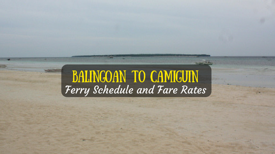 Balingoan to Camiguin ferry schedule