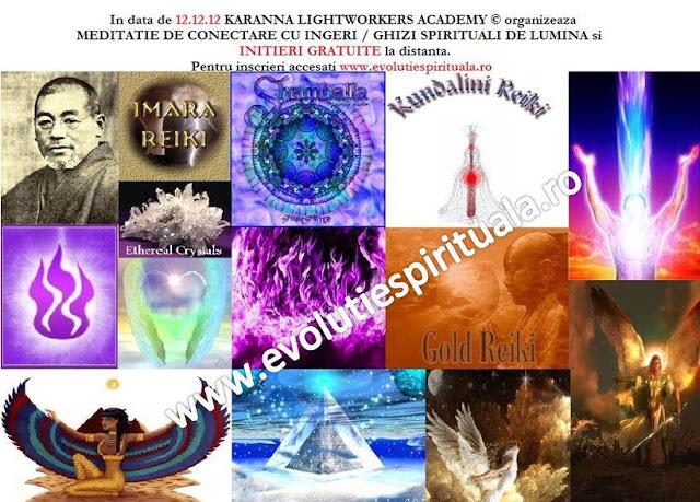 Initieri Miercuri, 12.12.12 - G R A T U I T 20:00 Initieri Si Meditatie De Conectare Cu Ingeri / / Arhangheli / Devasi / Maestrii Ascensionati / Ghizi Spirituali De Lumina