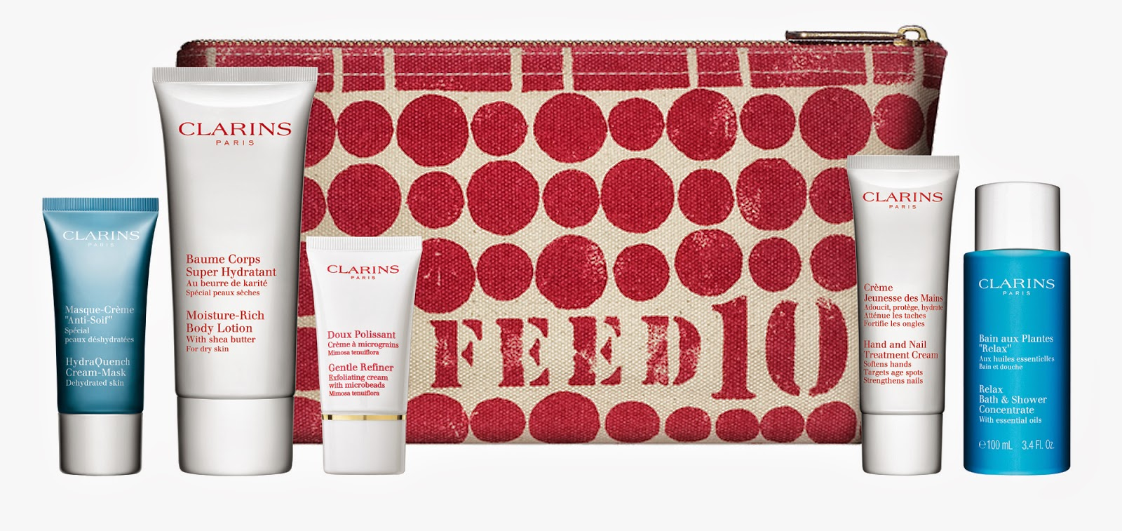 Clarins And Feed10 Gift With Purpose