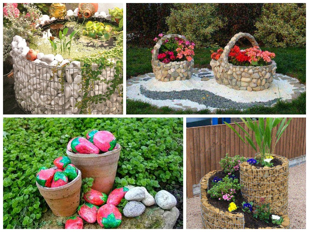 7 Great and cheap Garden Decorating Ideas with Rocks and Stones