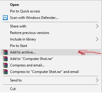 أفضل طريقة لاخفاء الملفات داخل الصور في الويندوز باستخدام برنامج WinRAR